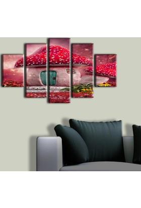 Tablo Art House Sihirli Mantar 5 Parça Kanvas Tablo 60 x 100 cm