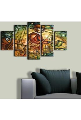Tablo Art House Müzisyenler Serisi 5 Parça Kanvas Tablo 60 x 100 cm