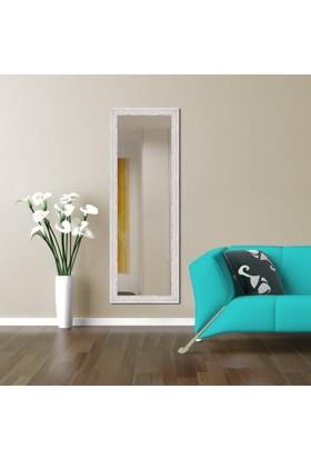 Hepsiburada Home Dekoratif Boy Aynası Krem Kırçıllı 45x105 cm