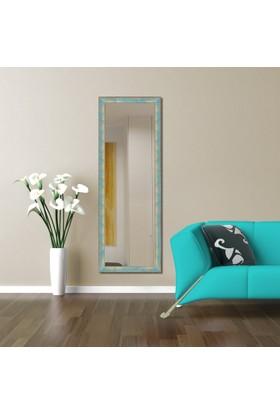 Hepsiburada Home Dekoratif Boy Aynası Yeşil Kırçıllı 45x105 cm