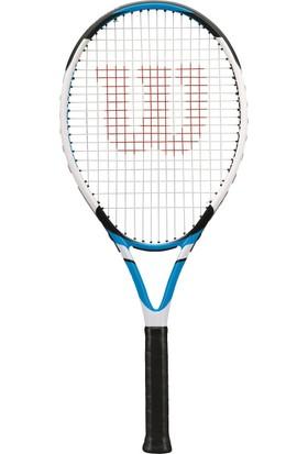 Wilson Fronton Comp Tenis Raketi L2 (Beyaz-Mavi) & Agency Sırt Çantası (Füme-Siyah) Seti