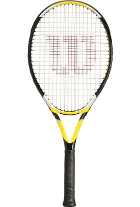 Wilson Fronton Comp Tenis Raketi L2 (Beyaz-Sarı) & Agency Sırt Çantası (Füme-Siyah) Seti