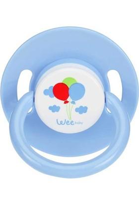 Wee Baby Mat Yuvarlak Gövdeli Yuvarlak Uçlu Emzik No:2 Normal Akış 6 - 18 Ay