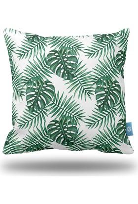 Bc Home Tropikal Yapraklar Dekoratif Yastık / Kırlent Kılıfı