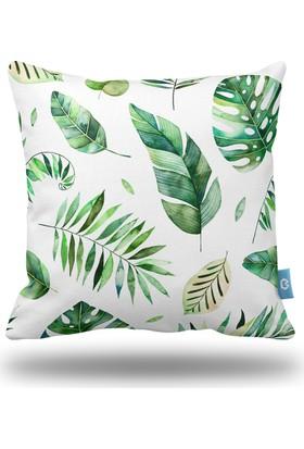 Bc Home Yapraklar Dekoratif Yastık / Kırlent Dolgulu