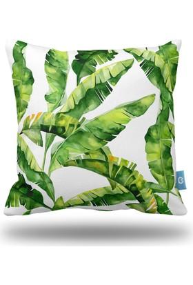 Bc Home Yapraklar Dekoratif Yastık / Kırlent Kılıfı