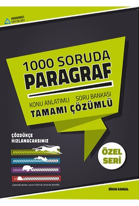 Sıradışı Analiz 1000 Soruda Paragraf Tamamı Çözümlü Konu Anlatımlı Soru Bankası - Sinan Kangal