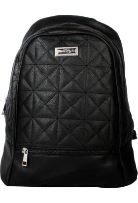 GC Bags Yeni Sezon Estetik Tasarım Bayan Günlük Sırt Çantası Siyah (2)