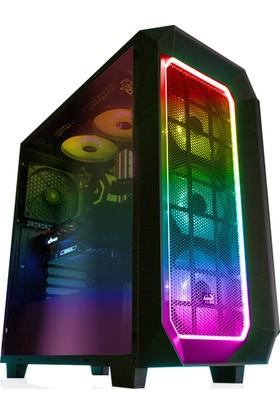 Aerocool P7-C0 Pro RGB Led Fanlı Full Cam Yan Panelli, USB 3.0 Oyuncu Kasası (AE-P7C0-PRO)
