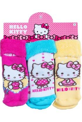 Hello Kitty HK12497 Bebek 3'lü Havlu Çorap