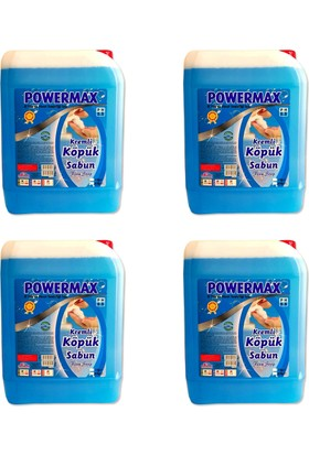 Powermax Köpük Sabun 5KG X 4 Adet Toplam 20KG Yeni Formüllü