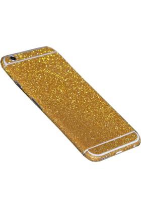 Yabidur Apple iPhone 5 / 5S Parıltılı Simli Sticker Kaplama Gold