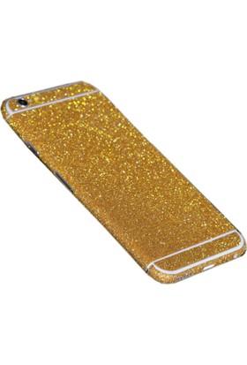 Yabidur Apple iPhone 7 Parıltılı Simli Sticker Kaplama Gold