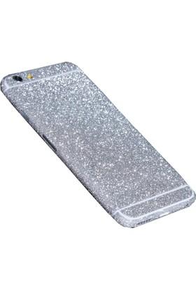 Yabidur Apple iPhone 7 Parıltılı Simli Sticker Kaplama Gümüş