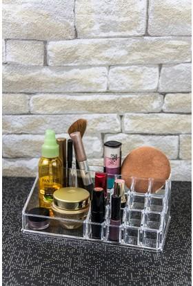 Mukko Home Akrilik Kozmetik Makyaj Düzenleyici Organizer 12.5Cm