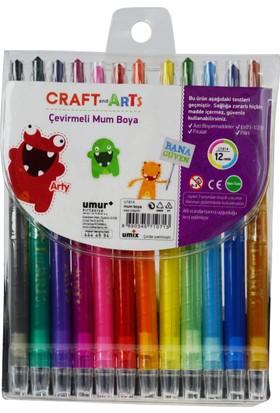 Craft And Arts Çevirmeli Mum Boya 12'Li