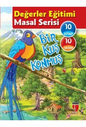 Değerler Eğitimi Öykü Serisi-Bir Kuş Konmuş (10 Kitaplık Set)