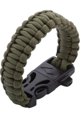Çınar Extreme Askeri Yeşil | Paracord Bileklik - Ateş Başlatıcı Ve Düdüklü