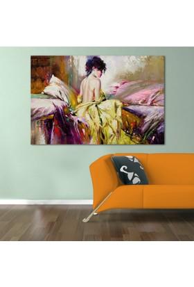 Doku Tablo Kadın Dev Boyut Kanvas Tablo 100x150