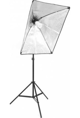 Hobimtek Softbox 50X70 Paraflaş Sürekli Işık Light Stand Ayaklı Set