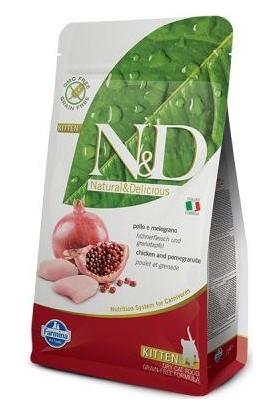 N & D Tahılsız Tavuk & Nar Yavru,Hamile,Emziren Kedi Maması 1,5 Kg