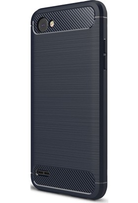 KılıfShop LG Q6 Romm Hybrid Silikon Kılıf + Ekran Koruyucu