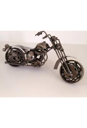 Harley Davidson Motorsiklet Metal Biblo Etusp
