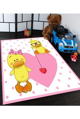 Bebişim Halı Sevimli Ördekler Çocuk Odası Halısı
