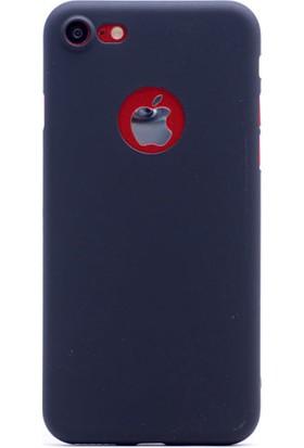 Kny Apple İphone 7 Kılıf Ultra İnce Sert Arka Kapak Vorka+Cam