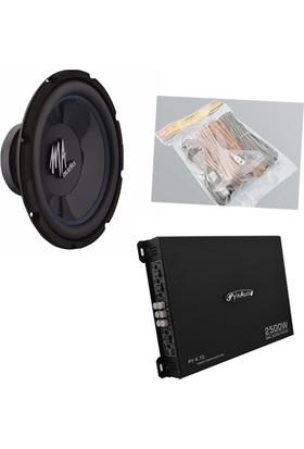 DB-0014 Kabinsiz Bass ve Amfi Seti + Kablo seti