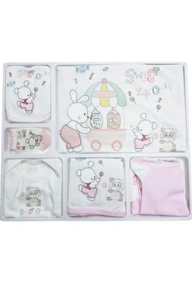 Bebitof 823 Şekerci Tavşan Kız Bebek 10'lu Hastane Çıkışı - Pembe