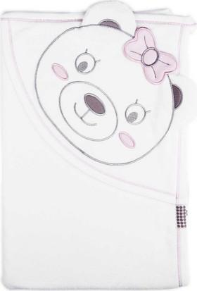 KitiKate Organik Penye Bebek Battaniye - Ekru Pembe
