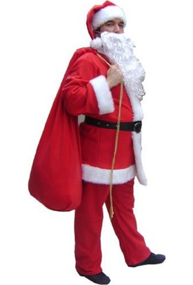 Hkostüm Yılbaşı Yetişkin Noel Baba Kostümü Lüx