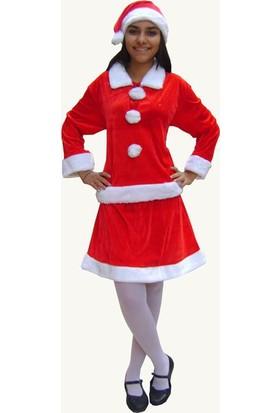 Hkostüm Yılbaşı Noel Anne Kostümü