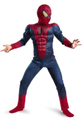Hkostüm Spiderman 3D Lüks Çocuk Kostümü Örümcek Adam Kıyafeti 5-6 Yaş