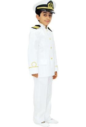 Hkostüm Kaptan Çocuk Meslek Kostümü 3-4 Yaş