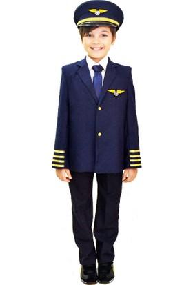 Hkostüm Pilot Çocuk Meslek Kostümü 9-10 Yaş