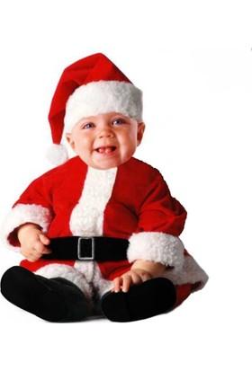 Hkostüm Yılbaşı Bebek Noel Baba Kostümü 12-18Ay