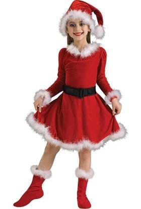 Hkostüm Yılbaşı Çocuk Noel Anne Kostümü 9-10 Yaş