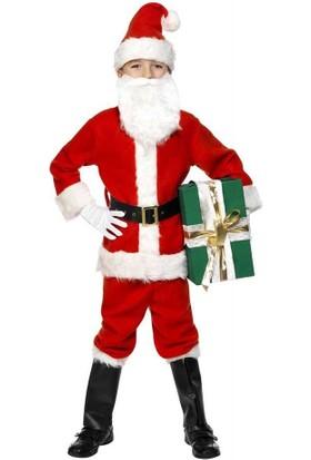 Hkostüm Yılbaşı Çocuk Noel Baba Kostümü 7-8 Yaş