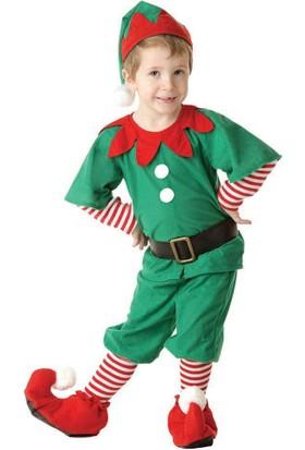 Hkostüm Yılbaşı Elf Çocuk Yılbaşı Kostümü Lüks 5-6 Yaş