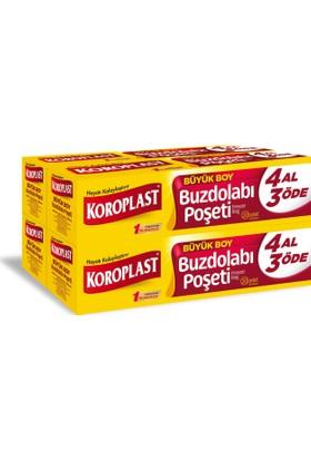 Koroplast Buzdolabı Poşeti Büyük Boy 4 Al 3 Öde 80'li 30x45 cm