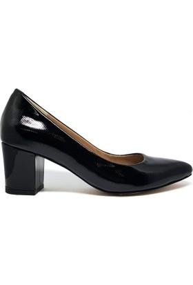 Shop And Shoes 001-3711255 Kadın Ayakkabı Siyah Rugan
