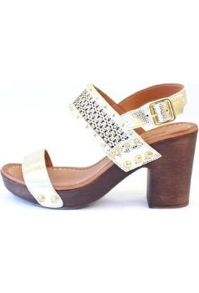 Shop And Shoes 010-8006 Kadın Ayakkabı Altın