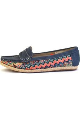 Shop And Shoes 013-1603 Kadın Babet Lacivert