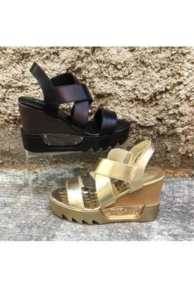 Shop And Shoes 015-122 Kadın Ayakkabı Altın