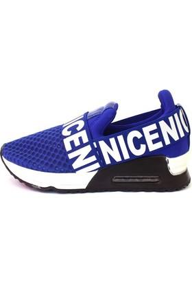 Shop And Shoes 015-Scr-15 Kadın Ayakkabı Saks Mavi