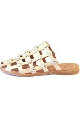 Shop And Shoes 031-1105 Kadın Terlik Bej