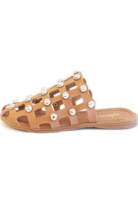Shop And Shoes 031-1105 Kadın Terlik Karamel
