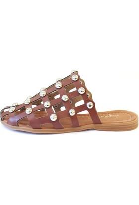 Shop And Shoes 031-1105 Kadın Terlik Kırmızı